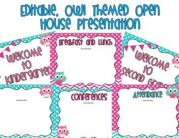 Editable Owl Themed Open House Presentation