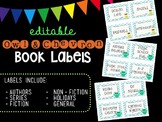 Editable Owl and Chevron Book Labels by Genre