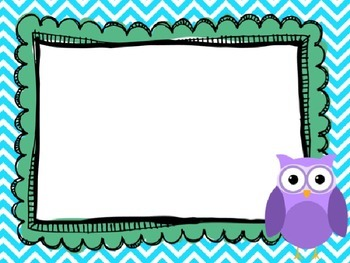 Editable Owl and Chevron Classroom Posters (Pastel)