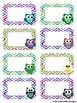 Editable Owl and Ikat Labels (Small, 2x4)