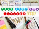 Teacher Binder & Teacher Lesson Planners - 2017 2018 {Editable Owls - Chevrons}