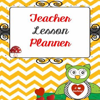 Teacher Binder Lesson Planner - two page editable calendar