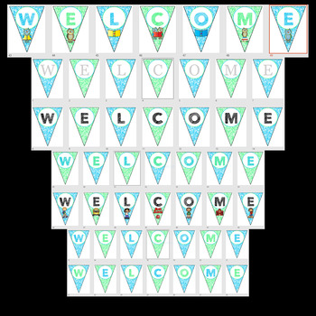 Editable Welcome Banners - Green and Blue Color Scheme - PowerPoint File