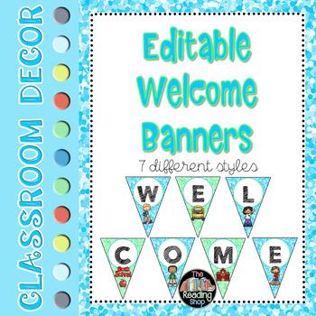 Editable Welcome Banners
