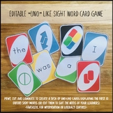 Editable Oxford Wordlist PLUS Uno-Like Card Game