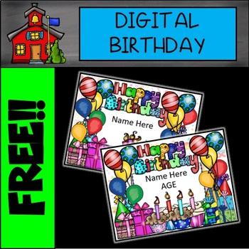 DIGITAL and EDITABLE  Happy Birthday