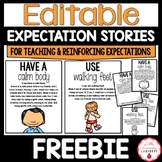 Editable PBIS Expectation Social Stories FREEBIE