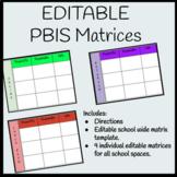 Editable PBIS Matrix Templates (School Wide and Individual Matrices)