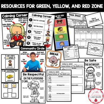 Editable PBIS Rules Materials {for teaching expectations} BUNDLE