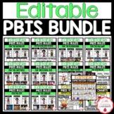 PBIS Rules & Classroom Expectations BUNDLE | EDITABLE
