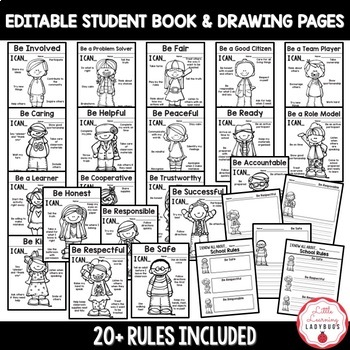 Editable PBIS Rules Posters and Printables {for teaching expectations}