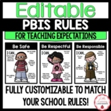 PBIS Rules & Classroom Expectations | EDITABLE