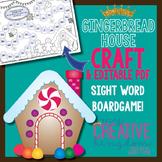 EDITABLE PDF Board Game & Gingerbread House Craft Freebie