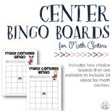 {Editable PDF & PPT} Math Center Bingo Boards