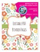 Editable PDF Teacher Binder Cover - Super Easy to Edit, Cover, Back, Spine