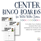 {Editable PDF & PPT} Word Work Center Bingo Boards
