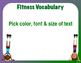 Editable PE Word Wall Templates for 7 Units - Danielson