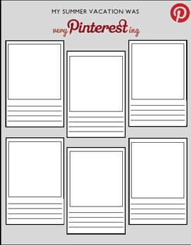 Editable PINTERESTING activity