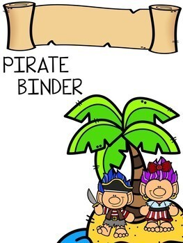 Editable PIRATE Binder Covers for Students