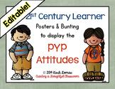 Editable PYP Attitudes Poster Set