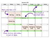 Editable Pacing Calendar for 2019-2020