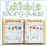 Editable Pacing Guide