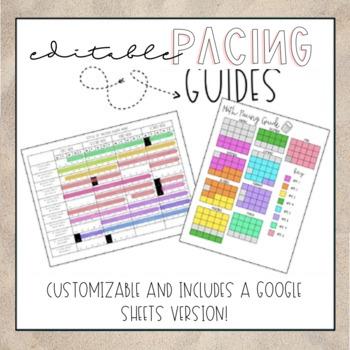 Pacing Guide Calendar Worksheets Teaching Resources TpT
