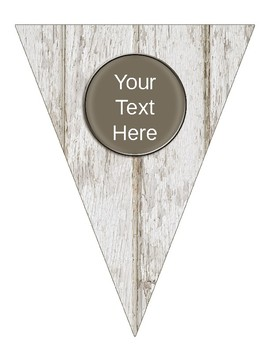Editable Painted Wood Banners for Classroom Decor