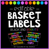 Editable Paper Basket Labels