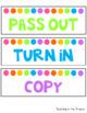 Editable Paper Basket Labels (White Background)