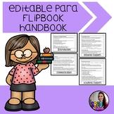 Editable Paraprofessional Flip Book Handbook