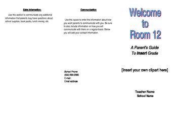 Editable Parent Brochure