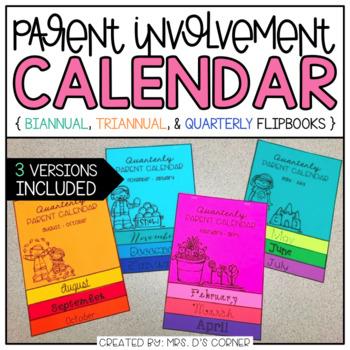 Editable Parent Calendar Flipbook { Quarterly, Biannual, and Triannual }