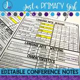 Editable Parent Conference Forms