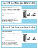 Editable Parent Conference Reminder in English and Spanish