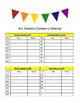 Editable Parent Conference Schedule