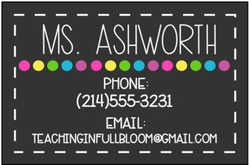 Editable Parent Contact Cards
