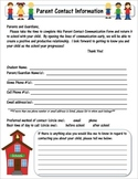 Editable Parent Contact Information Form