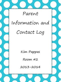 Editable Parent Contact and Communication Log