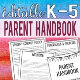 EDITABLE Parent Handbook for K-5