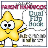 Editable Parent Handbook | Dual Tab Flip Book | Back to School Handbook