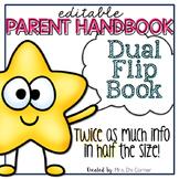 Editable Parent Handbook   Dual Tab Flip Book   Back to School Handbook