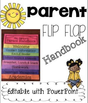 Editable Parent Handbook Flip Flap Book