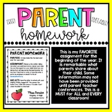 Editable Parent Homework