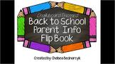 Editable Parent Info Open House Flipbook (Chalkboard Theme)