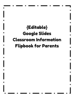 {Editable} Parent Information Flip Book