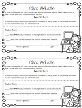 Editable Back to School Forms