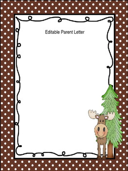 Editable Parent Letter