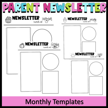 Editable Parent Newsletter Template- Weekly Classroom Letter