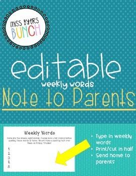Editable Parent Note